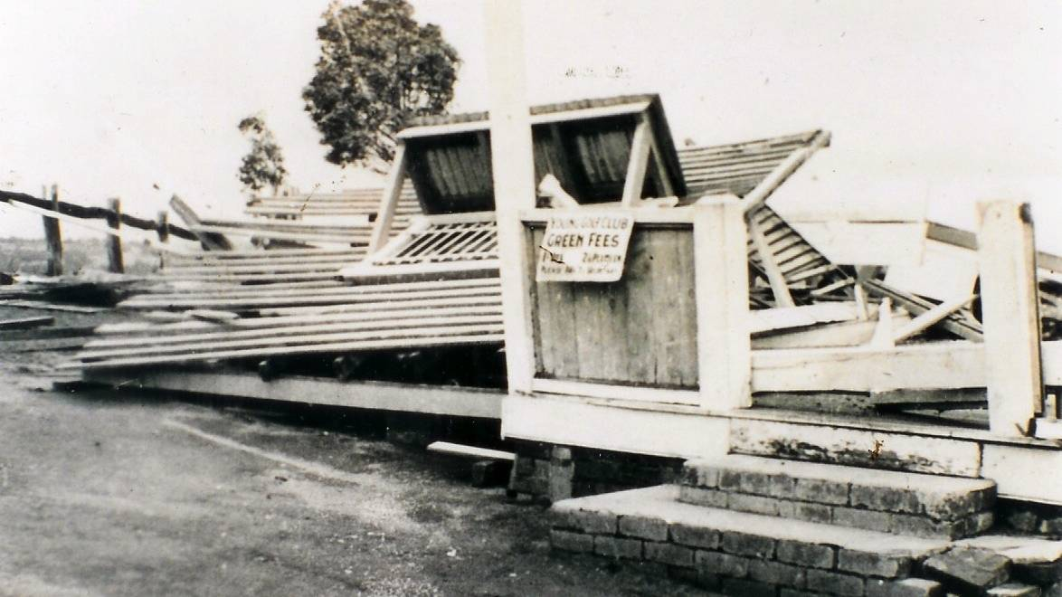 1938 cyclone damage at Young Golf Club.